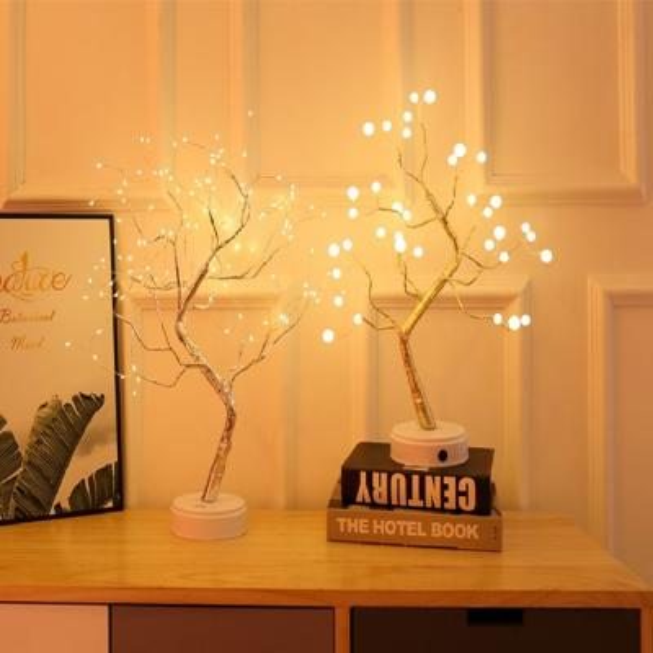 파베르 진주 눈꽃 매화나무 LED 무드등 비즈조명
