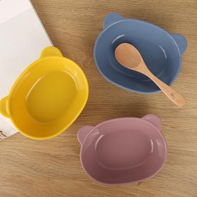 실리콘 베어 간식그릇 유아 식기 아기 어린이집 SH009