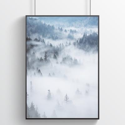 안개의 숲 - 힐링 인테리어포스터