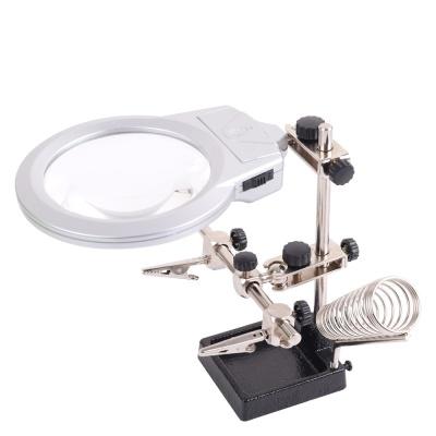 작업용 LED 확대경 (스탠드형) /  납땜 작업 LCOE792