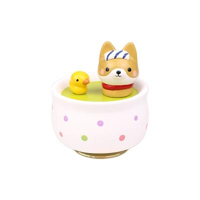 도자기 오르골 목욕하는 시바(강아지)