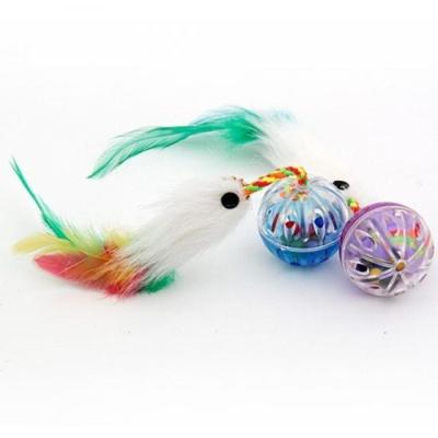 펫모닝 고양이 장난감 투명볼 공 벌레 깃털 사냥 놀이