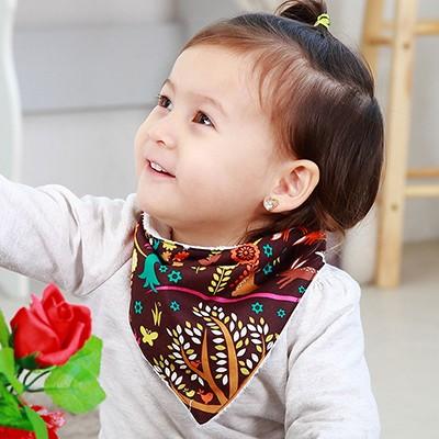 [아이렌즈블랭킷] 극세사 스카프빕 / 아기목도리 - 앙증 맞은 동물 무늬