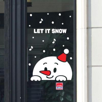 제제데코 크리스마스 눈꽃 스티커 장식 CMS4J128