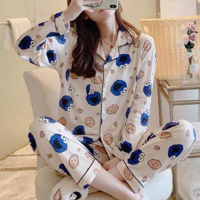블룽이 여성잠옷 캐릭터 긴팔 홈웨어 파자마세트