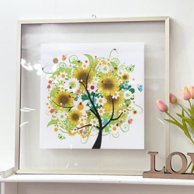 tl760-투명액자56CmX56Cm_행복이자라는해바라기나무
