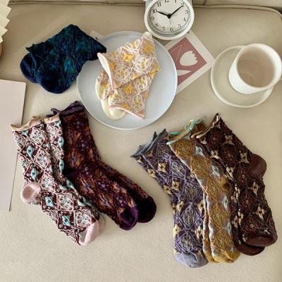 카비디 중목 무늬 패션 양말