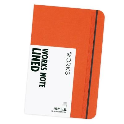 [무료 이니셜각인]웍스 노트 라인드 03 오렌지 레드 맥시