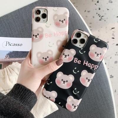 아이폰 귀여운 곰돌이 패턴 캐릭터 커플 실리콘케이스
