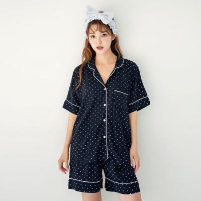 [쿠비카]미니 도트 포인트 투피스 여성잠옷 W581