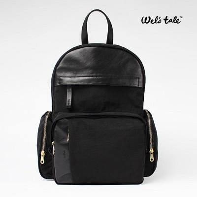 [웰스테일] tale 302 black 기저귀가방