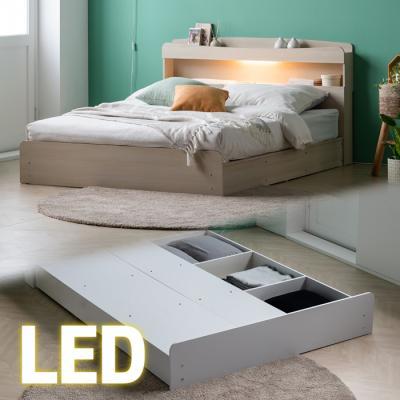 안단테 평상형 LED 퀸 침대 (7존포켓매트) KC187Q
