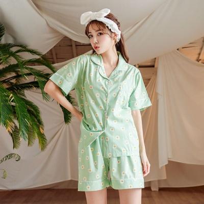 [쿠비카]데이지 프린팅 모달 투피스 여성잠옷 W579
