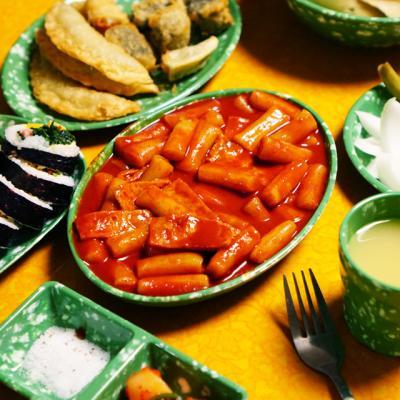 추억의 떡볶이 접시 옛날 그릇 국물떡볶이접시 1P