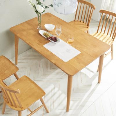 [노하우] 소이 고무나무원목 4인 식탁 (의자미포함)