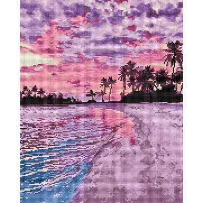 아름다운 해변 (캔버스형) 보석십자수 40x50