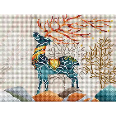 아름다운 사슴 (캔버스형) 보석십자수 30x40