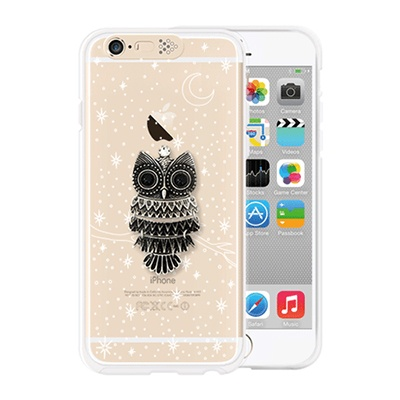[SG DESIGN] iPhone6/6S SG Lighting Clear Hand-made Case - Clear Owl in night (Swarovski)