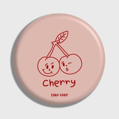 [어프어프] 손거울 Twin cherries-Indy pink