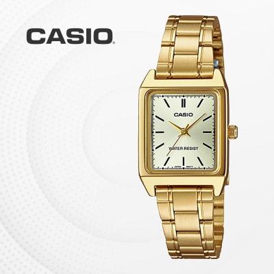 카시오 아날로그 메탈 여성 손목시계 LTP-V007G-9E