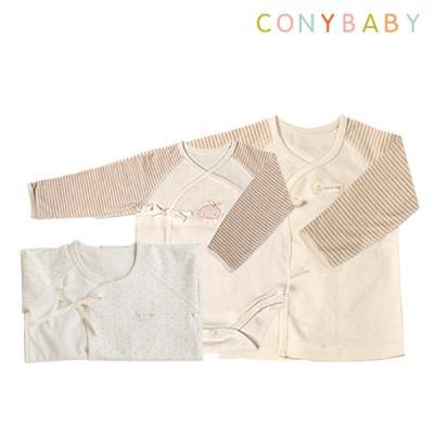 [CONY]출산3종세트(핑크배냇가운+배냇저고리+수트)
