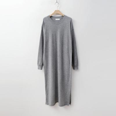 Round Long Knit Dress