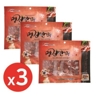명견만리400g 오리큐브 x3개 강아지간식