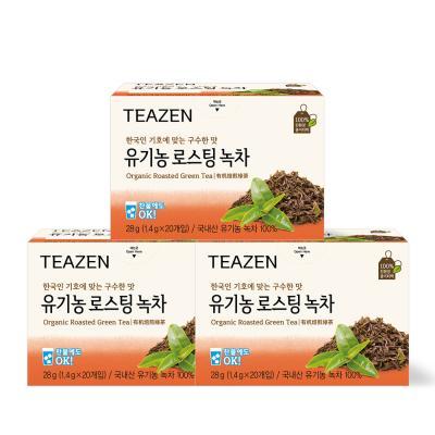 티젠 로스팅 녹차 60티백(20티백x3박스)