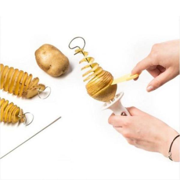 간편형 감자 스파이럴 커터 수동 슬라이서 1개