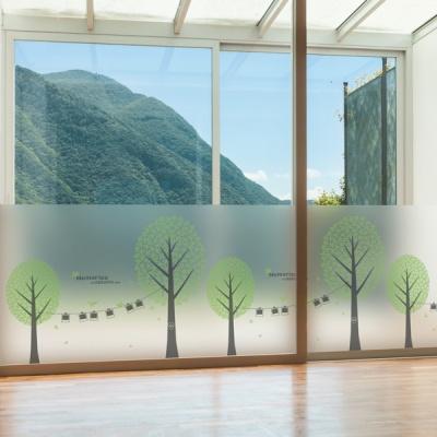 dgcn248-추억의 숲-무점착 반투명 창문 시트지