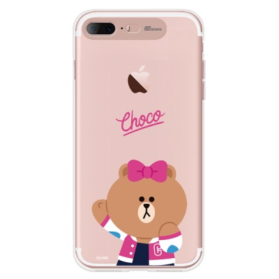 라인프렌즈 iPhone7+  8+ CHOCO Cheer-UP LIGHT CASE