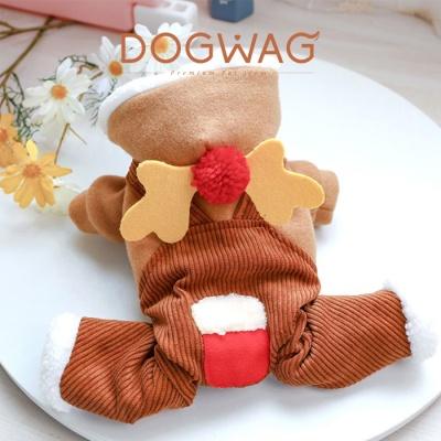 도그웨그 루돌프 올인원 강아지 크리스마스 코스튬