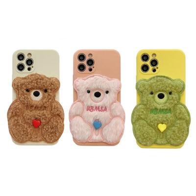 아이폰 12 mini pro max 뽀글이 곰돌이 캐릭터 케이스