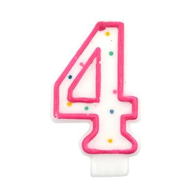 도트 숫자초4-핑크