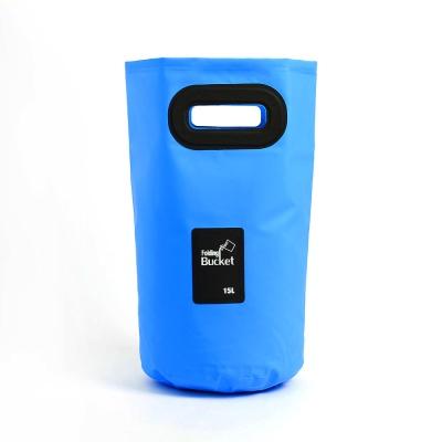 워터백 손잡이 폴딩 버킷(15L) 캠핑버킷 설거지통