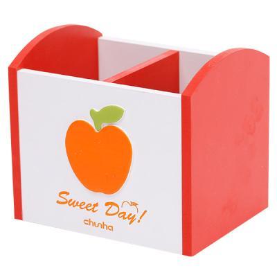 연필통 스위트데이 애플펜꽂이(WD206 orange2칸)