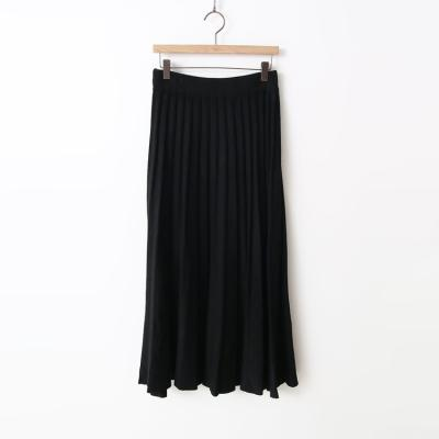 Wool Pleats Long Skirt