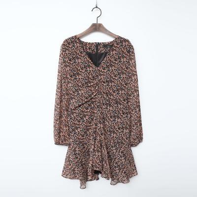 Chiffon Flare Mini Dress