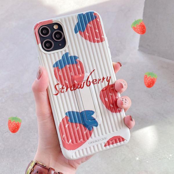 스탠딩 딸기오렌지케이스(아이폰X/XS)