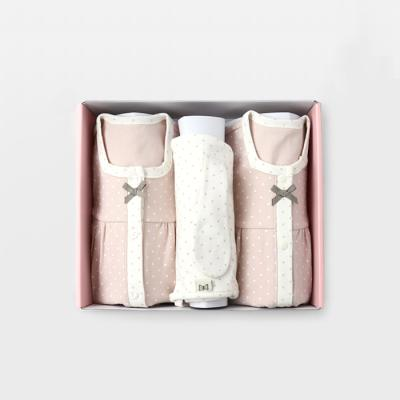 [메르베] 도로시 아기 백일선물세트(내의+슈트+모자)