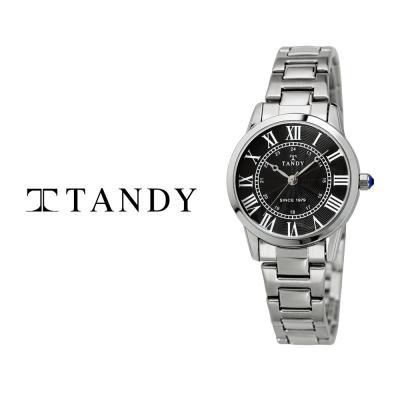 탠디 클래식 커플 메탈 손목시계 T-3714 여자 블랙