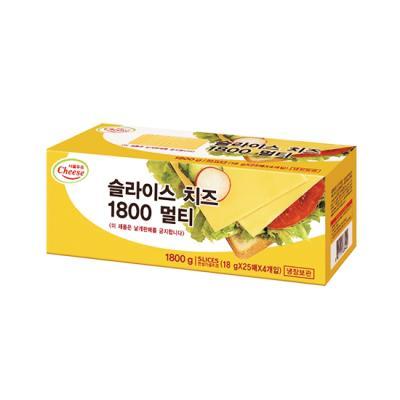 [서울우유] 체다 슬라이스치즈 1.8kg (100장)