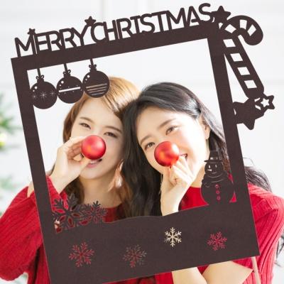 페이퍼 폴라로이드 크리스마스 토퍼 - 캔디지팡이