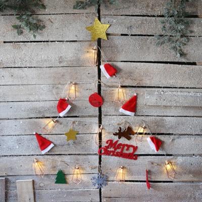 LED 산타모자 벽트리 세트 (아이언)