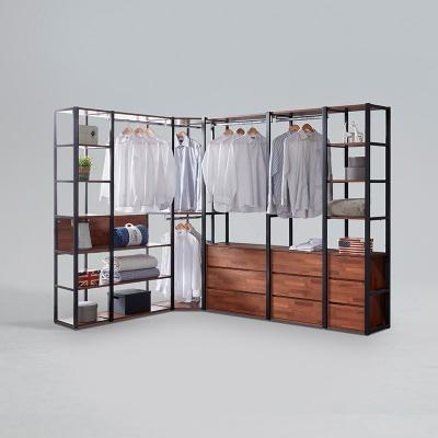 도이츠 철제 드레스룸 코너형 선반 옷장 풀세트 C형 (