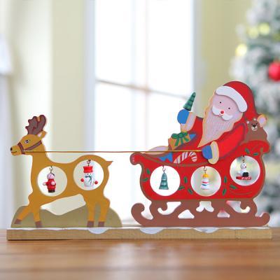 크리스마스 산타와 루돌프 목각트리