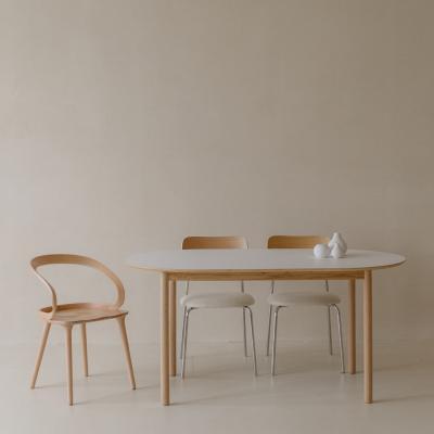 마리 이태리 호마이카 타원형테이블 4인식탁