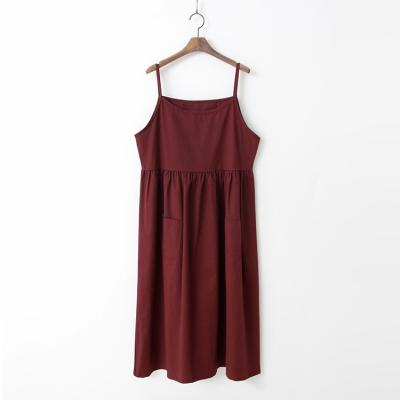 Autumn Cotton Cami Long Dress