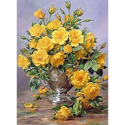 봄꽃 향기 (패브릭) 보석십자수 40x55