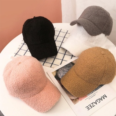 [갓샵 양털 무지볼캡 5color] 따뜻한 겨울야구털모자